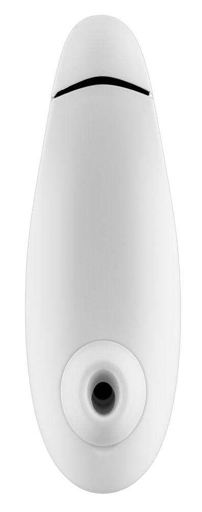 Белый бесконтактный клиторальный стимулятор Womanizer Premium - фото 168597