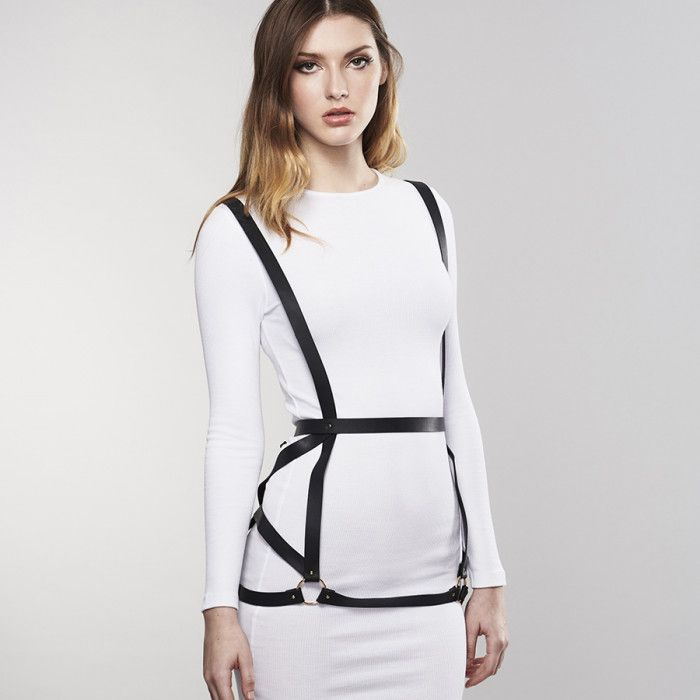 Чёрная упряжь ARROW DRESS HARNESS - фото 1179455