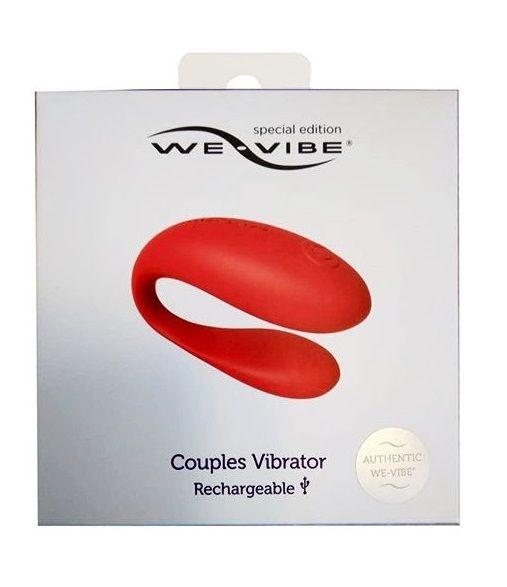 Красный вибратор для пар We-vibe Special Edition - фото 169206