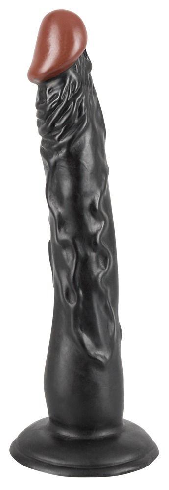 Чернокожий фаллоимитатор на присоске African Lover - 18 см.