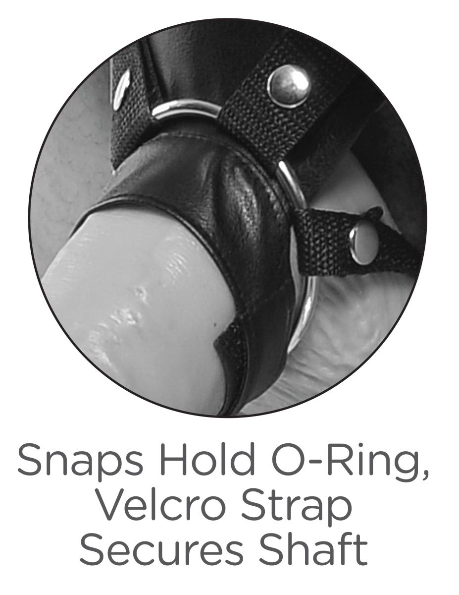 Страпон-система с чёрной насадкой 11  Two Cocks One Hole Hollow Strap-On Suspender System - 30,5 см. - фото 170323