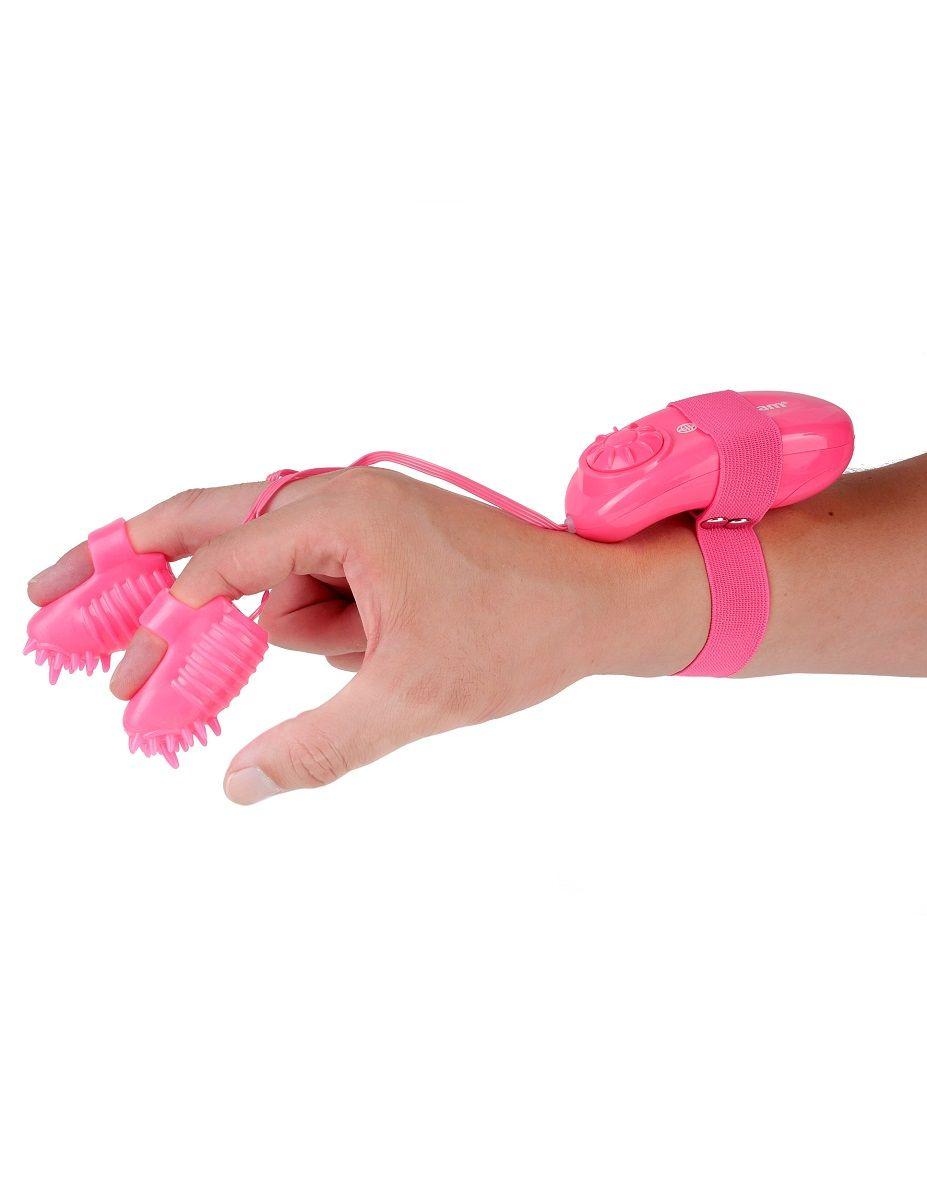 Розовые вибронасадки на пальцы Magic Touch Finger Fun - фото 170358