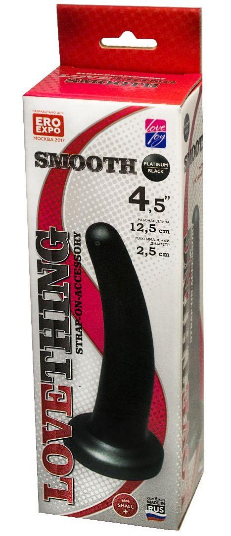 Анальная насадка Smooth - 12,5 см. - фото 1681743