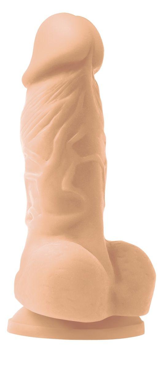 Телесный фаллоимитатор на присоске Pleasures 4  - 14,2 см. - фото 215773