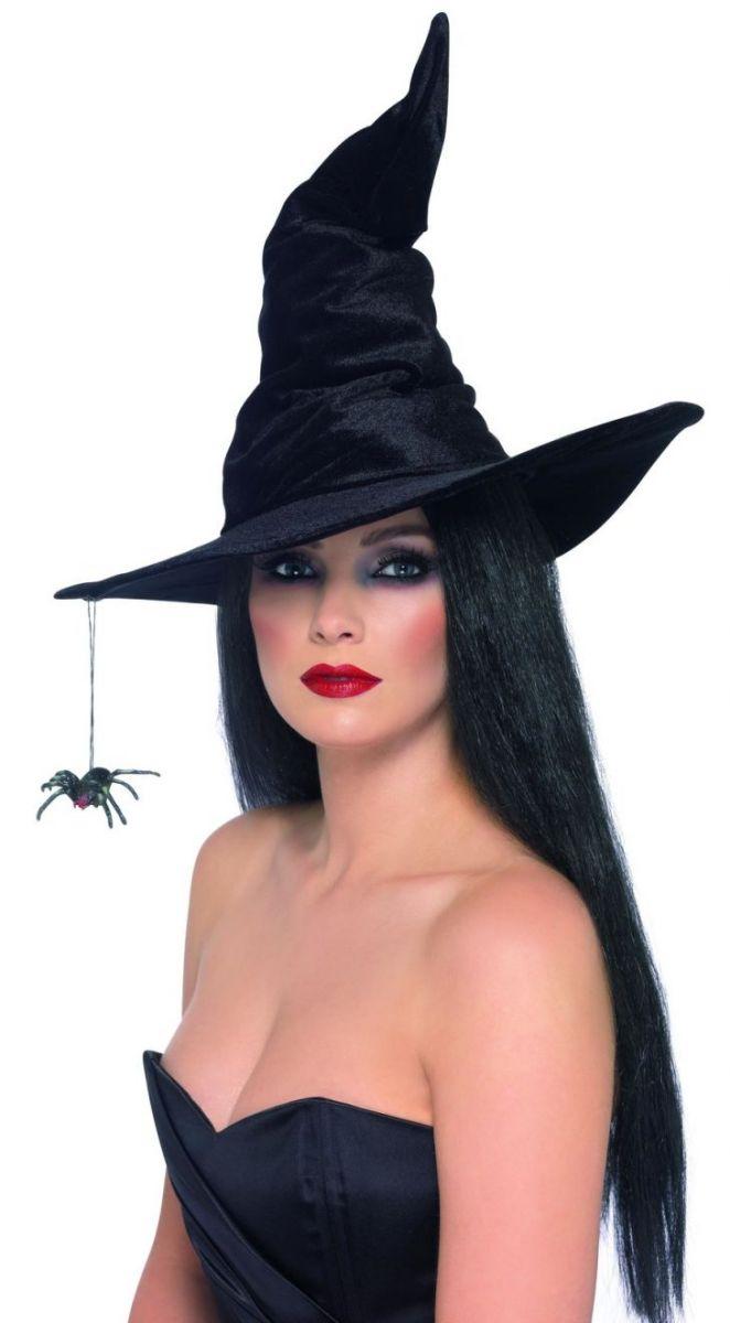 Оригинальная шляпа ведьмы с пауком