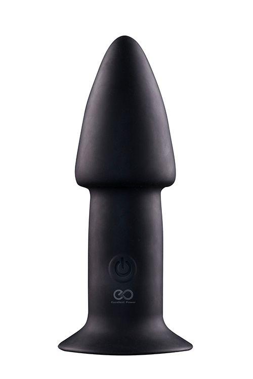 Черный анальный вибратор 5INCH RECHARGEABLE BUTTPLUG - 12,7 см.