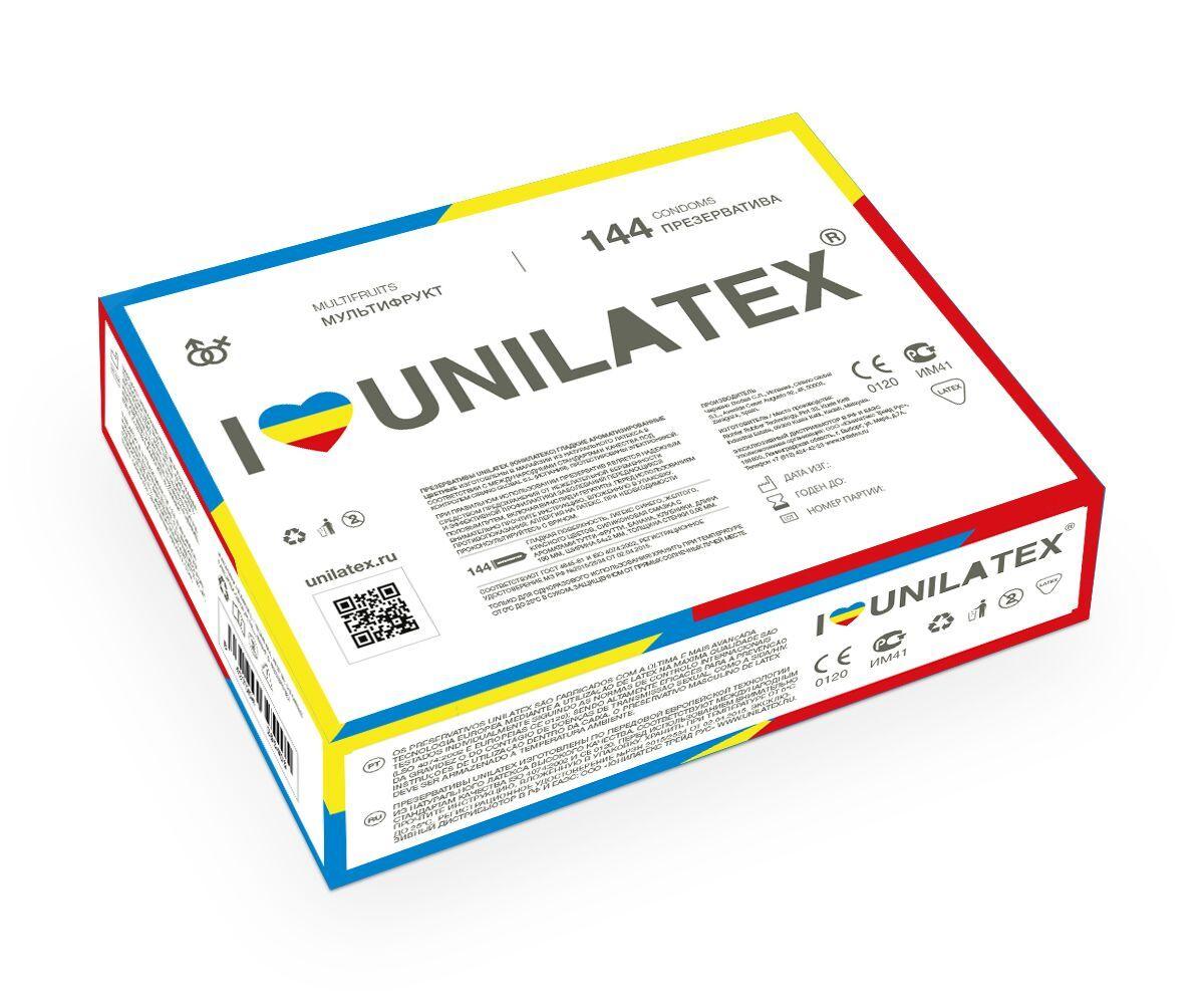 Разноцветные ароматизированные презервативы Unilatex Multifruits - 144 шт.