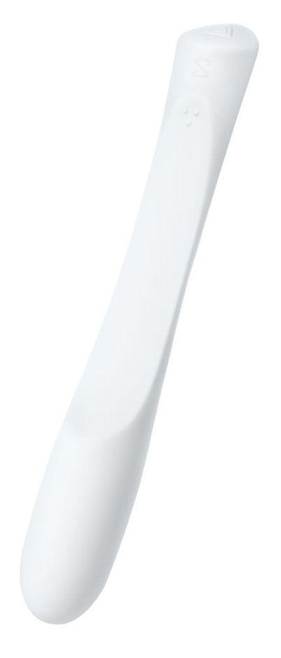 Белый гибкий водонепроницаемый вибратор Sirens Venus - 22 см.