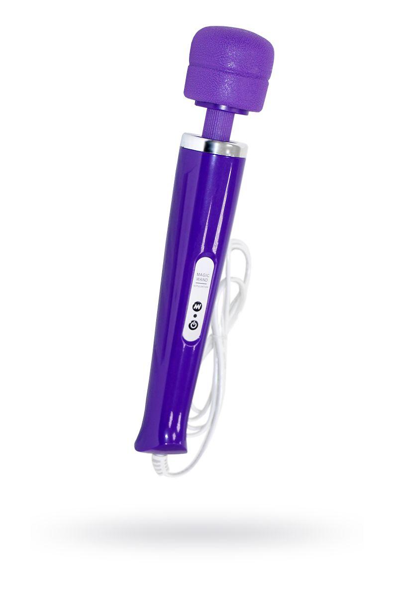 Фиолетовый проводной вибромассажер Magic Wand