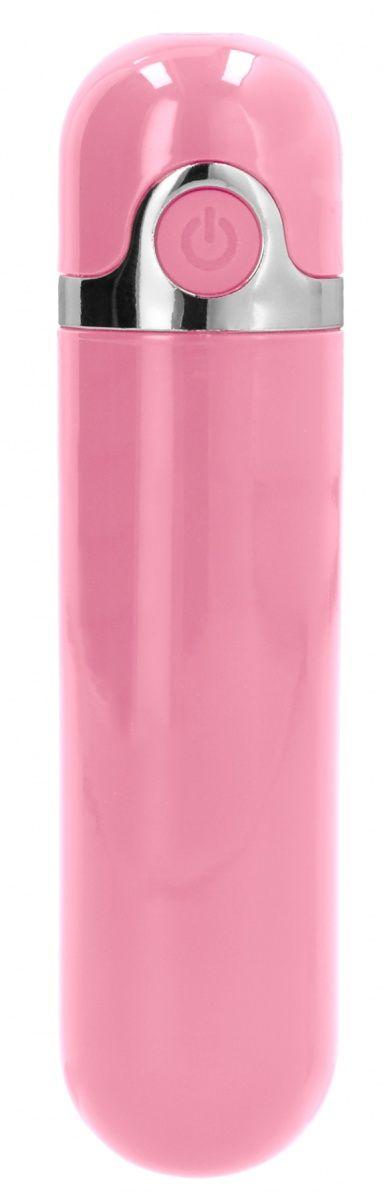 Розовая вибропуля LUC - 9 см.