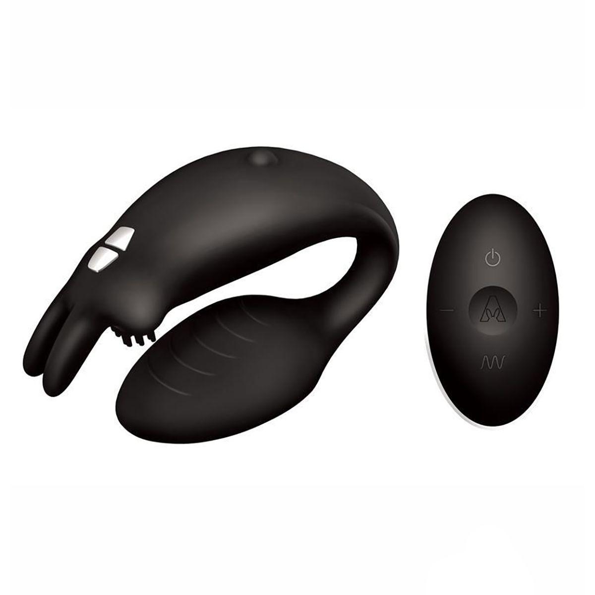 Чёрный вибратор для пар The Couples Rabbit - фото 172930