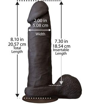 Темнокожий фаллоимитатор из UR3 - 20,57 см.