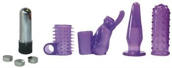 Фиолетовая вибропулька с 4 насадками