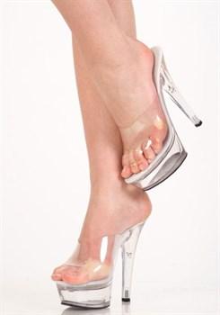 Туфли прозрачные на высоком каблучке