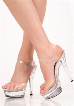 Туфли прозрачные с ремешком
