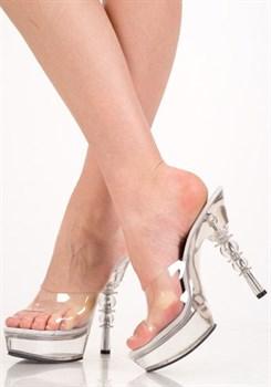 Туфли прозрачные без ремешка