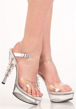 Туфли прозрачные на небольшой платформе