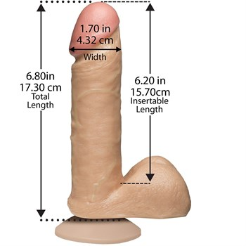 "Фаллоимитатор на присоске The Realistic Cock 6"" with Removable Vac-U-Lock Suction Cup - 17,3 см."