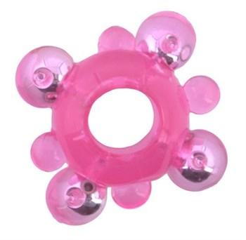 Эрекционное кольцо c бусинками