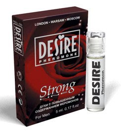 Мужские духи с феромонами DESIRE STRONG№1 в коробочке 5 мл.