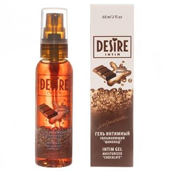 Интимный гель-лубрикант DESIRE с ароматом шоколада - 60 мл.