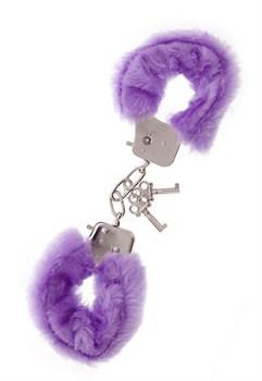 Фиолетовые меховые наручники METAL HANDCUFF WITH PLUSH LAVENDER