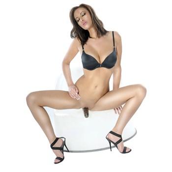 Безремневой страпон с вагинальной пробкой и вибратором Vibrating  Strapless  Strap-On - 18 см.