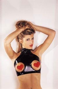 Латексный топ с вырезами для груди. Latex Topless Top.