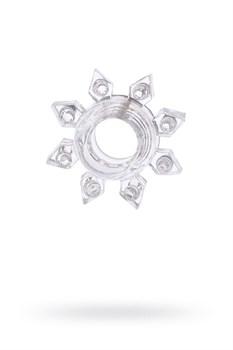 Прозрачное гелевое эрекционное кольцо-звезда