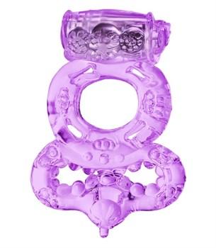 Фиолетовое виброкольцо с подхватом