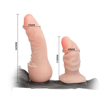 Фаллопротез на трусиках с вагинальной пробкой - 16,5 см.