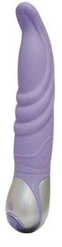 Фиолетовый вибратор Mantra из серии VIBE THERAPY - 19 см.