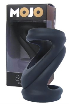 Черная силиконовая насадка-эректор Mojo Svelte