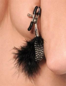 Металлические зажимы для сосков с пёрышками Feather Nipple Clamps