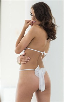 Прозрачное кружевное боди Beth с бантиком сзади