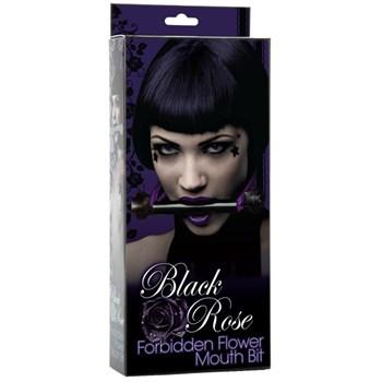 Мягкий кляп для рта BLACK ROSE