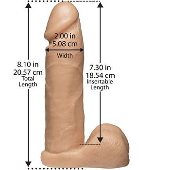 Насадка с трусиками Vac-U-Lock Set 8  Realistic Ultra Harness - 20,6 см.