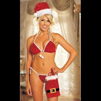 Бикини-комплект подружки Санта Клауса