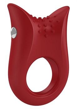 Красное эрекционное виброкольцо B2