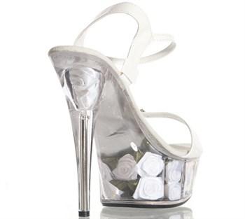 Лакированные туфли с сатиновыми розами