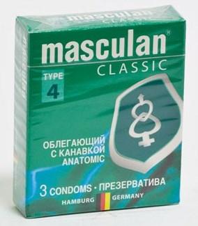 Презервативы Masculan Classic облегающие с канавкой (Anatomic)