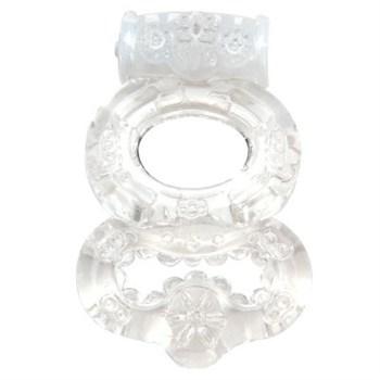 Прозрачное эрекционное кольцо с вибрацией Climax Gems Crystal Ring