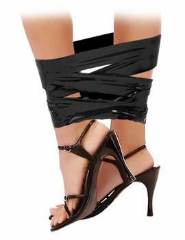 Черная самоклеющаяся лента для связывания Pleasure Tape - 10,6 м.