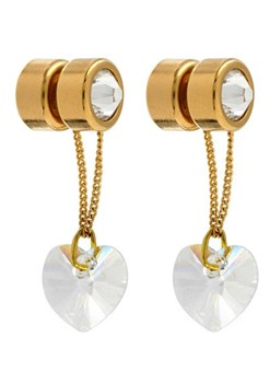 Зажимы для половых губ с кристаллами Swarovski под золото