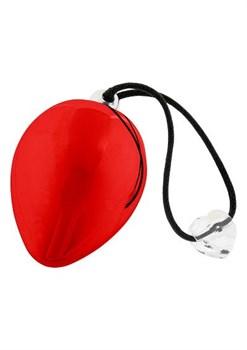 Красное виброяичко с кристаллом Swarovski EggXitting, 3.8 см