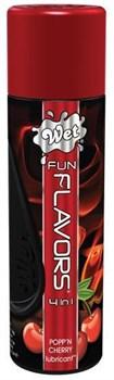 Разогревающий лубрикант Fun Flavors 4-in-1 Popp n Cherry с ароматом вишни - 89 мл.