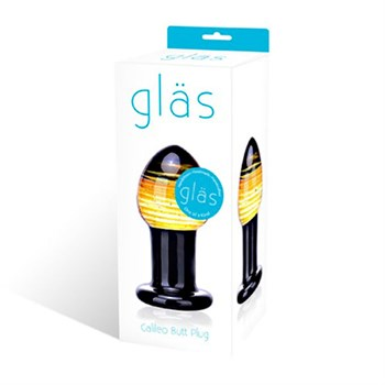 Яркая стеклянная втулка для анальной стимуляции,  9 см