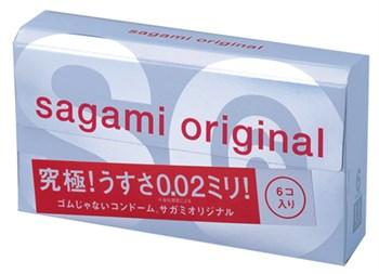 Ультратонкие презервативы Sagami Original 0.02 - 6 шт.