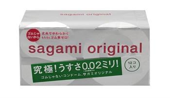 Ультратонкие презервативы Sagami Original 0.02 - 12 шт.