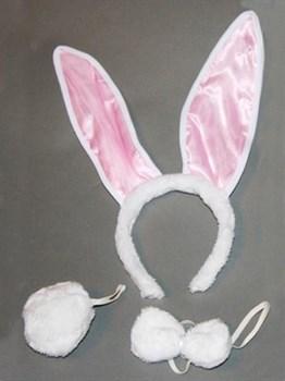 Уши кролика с меховым хвостиком